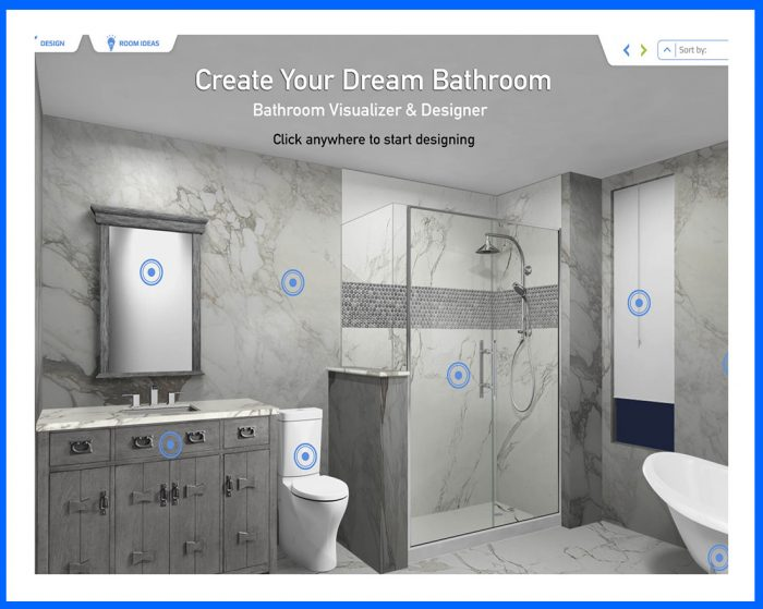 Free online bathroom visualizer in Orange
